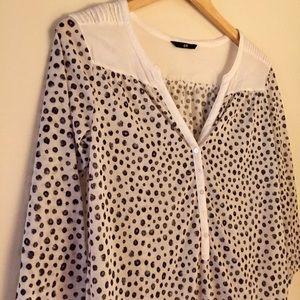 """H&M"" Leopard & White Top"